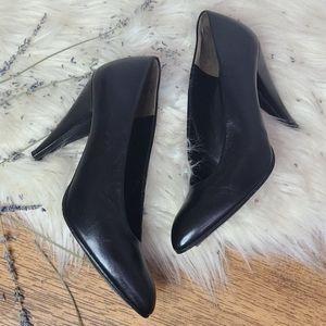 Charles Jourdan Paris black leather heels sz.6
